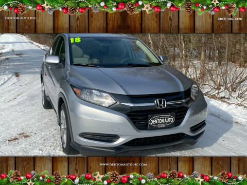 2018 Honda HR-V for sale at Denton Auto Inc in Craftsbury VT