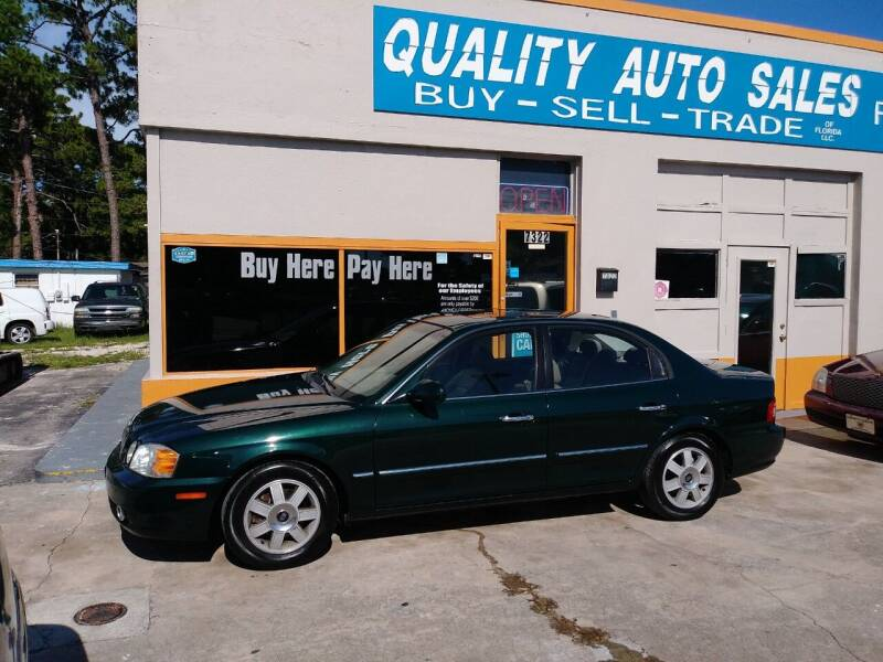 2003 Kia Optima for sale at QUALITY AUTO SALES OF FLORIDA in New Port Richey FL