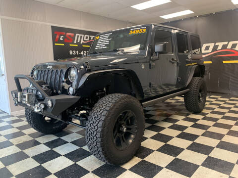 2016 Jeep Wrangler Unlimited for sale at T & S Motors in Ardmore TN