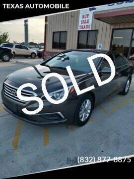 2016 Hyundai Sonata for sale at TEXAS AUTOMOBILE in Houston TX