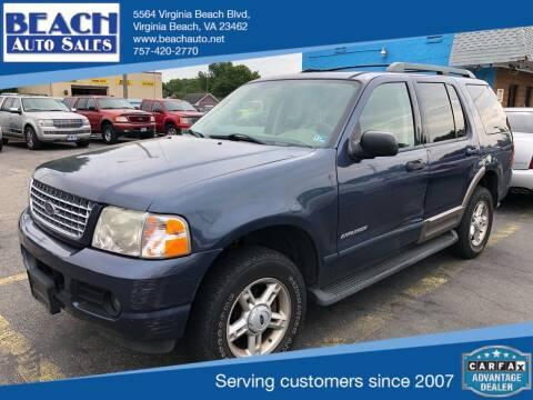 2005 Ford Explorer for sale at Beach Auto Sales in Virginia Beach VA