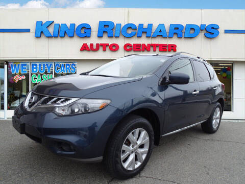 2013 Nissan Murano for sale at KING RICHARDS AUTO CENTER in East Providence RI