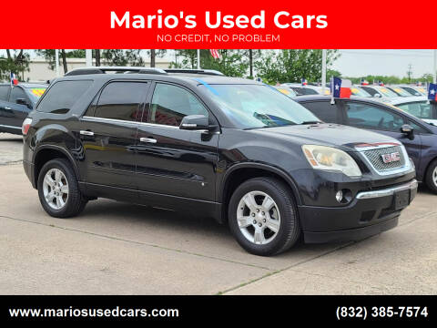 2009 GMC Acadia for sale at Mario's Used Cars in Houston TX
