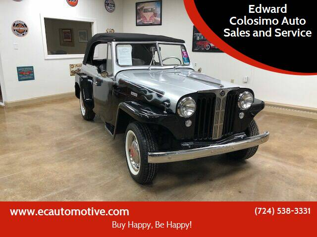 1949 Willys Jeepster for sale at Edward Colosimo Auto Sales and Service in Evans City PA