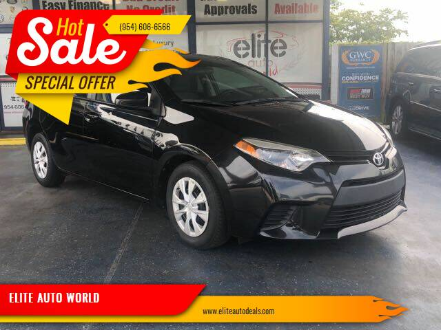 2015 Toyota Corolla for sale at ELITE AUTO WORLD in Fort Lauderdale FL