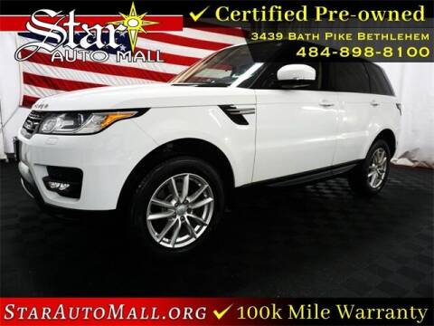 2016 Land Rover Range Rover Sport for sale at STAR AUTO MALL 512 in Bethlehem PA