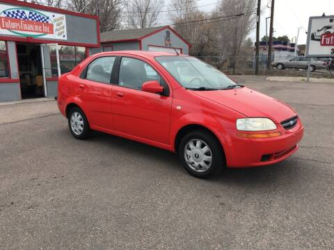 2005 Chevrolet Aveo for sale at FUTURES FINANCING INC. in Denver CO