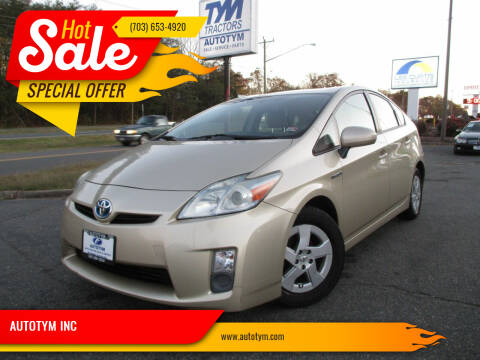 2010 Toyota Prius for sale at AUTOTYM INC in Fredericksburg VA