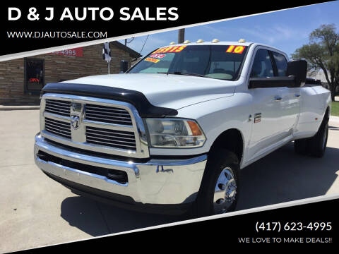 2010 Dodge Ram Pickup 3500 for sale at D & J AUTO SALES in Joplin MO