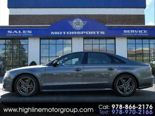 2017 Audi S8 plus for sale at Highline Group Motorsports in Lowell MA