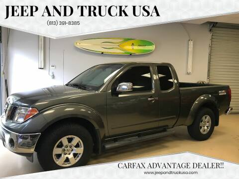 2007 Nissan Frontier for sale at Jeep and Truck USA in Tampa FL