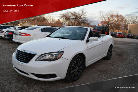 2011 Chrysler 200 Convertible for sale at American Auto Center in Austin TX