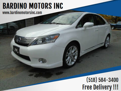 2010 Lexus HS 250h for sale at BARDINO MOTORS INC in Saratoga Springs NY