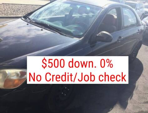 2008 Kia Spectra for sale at D & J AUTO EXCHANGE in Columbus IN