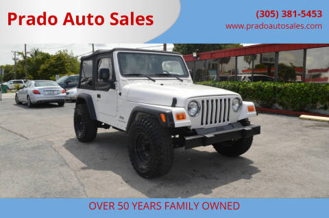 2006 Jeep Wrangler for sale at Prado Auto Sales in Miami FL