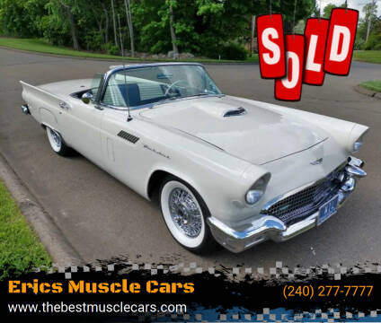 1957 Ford Thunderbird for sale at Erics Muscle Cars in Clarksburg MD