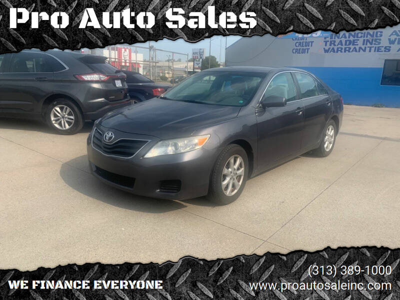 2011 Toyota Camry for sale at Pro Auto Sales in Lincoln Park MI