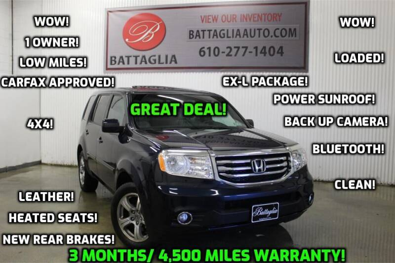 2012 Honda Pilot for sale at Battaglia Auto Sales in Plymouth Meeting PA