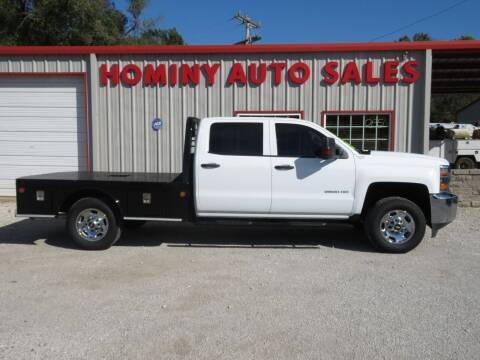 2017 Chevrolet Silverado 2500HD for sale at HOMINY AUTO SALES in Hominy OK