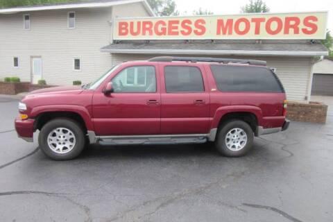 2004 Chevrolet Suburban for sale at Burgess Motors Inc in Michigan City IN