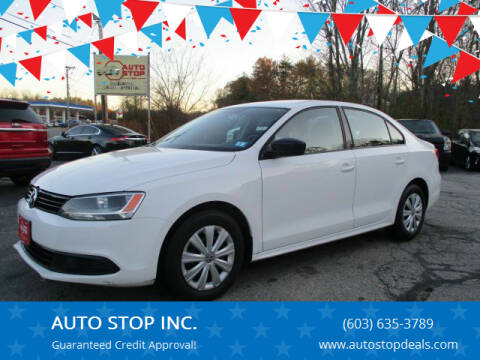 2012 Volkswagen Jetta for sale at AUTO STOP INC. in Pelham NH