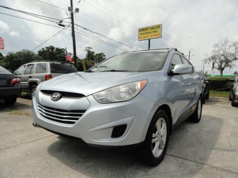 2012 Hyundai Tucson for sale at GREAT VALUE MOTORS in Jacksonville FL