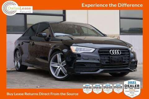 2016 Audi A3 for sale at Dallas Auto Finance in Dallas TX