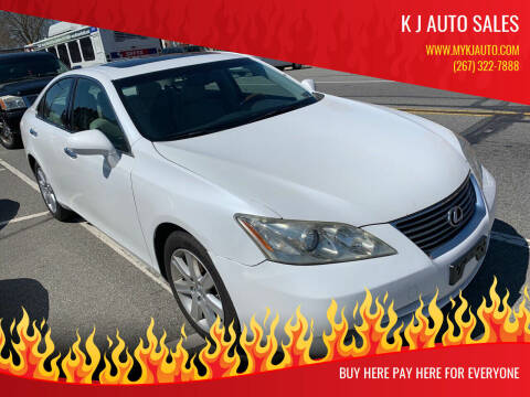 2008 Lexus ES 350 for sale at K J AUTO SALES in Philadelphia PA