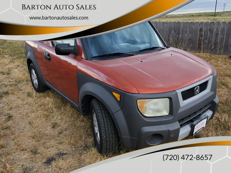 2003 Honda Element for sale at Barton Auto Sales in Longmont CO