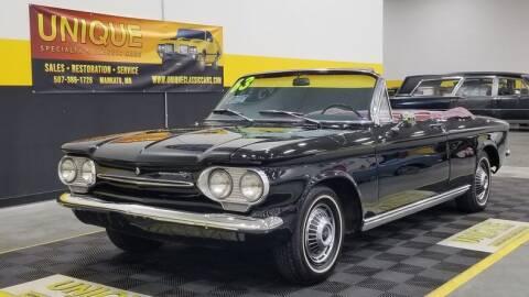 1963 Chevrolet Corvair for sale at UNIQUE SPECIALTY & CLASSICS in Mankato MN