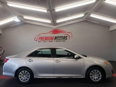 2013 Toyota Camry for sale at Premium Motors in Villa Park IL