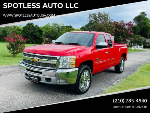 2013 Chevrolet Silverado 1500 for sale at SPOTLESS AUTO LLC in San Antonio TX
