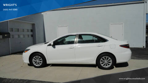 2016 Toyota Camry for sale at WRIGHT'S in Hillsboro KS