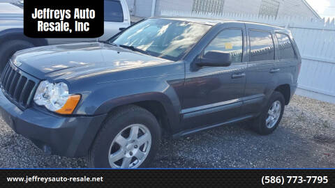 2008 Jeep Grand Cherokee for sale at Jeffreys Auto Resale, Inc in Clinton Township MI