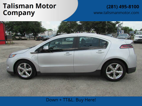 2013 Chevrolet Volt for sale at Talisman Motor Company in Houston TX