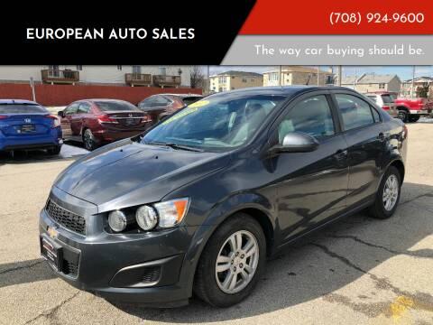 2012 Chevrolet Sonic for sale at European Auto Sales in Bridgeview IL