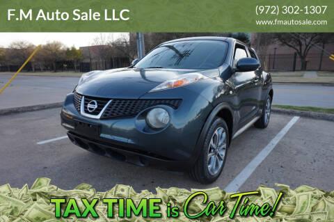 2012 Nissan JUKE for sale at F.M Auto Sale LLC in Dallas TX