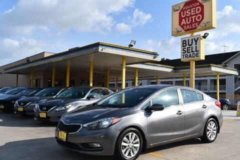 2015 Kia Forte for sale at Houston Used Auto Sales in Houston TX