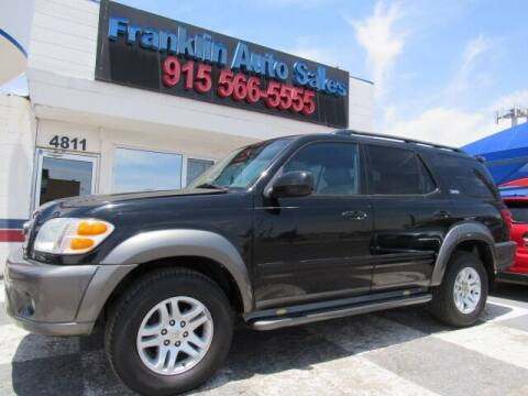 2004 Toyota Sequoia for sale at Franklin Auto Sales in El Paso TX