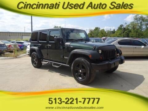 2011 Jeep Wrangler Unlimited for sale at Cincinnati Used Auto Sales in Cincinnati OH