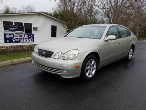 2002 Lexus GS 300 for sale at TR MOTORS in Gastonia NC