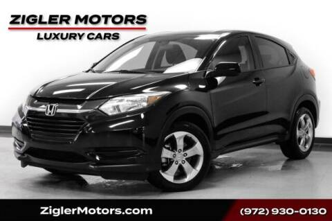 2018 Honda HR-V for sale at Zigler Motors in Addison TX