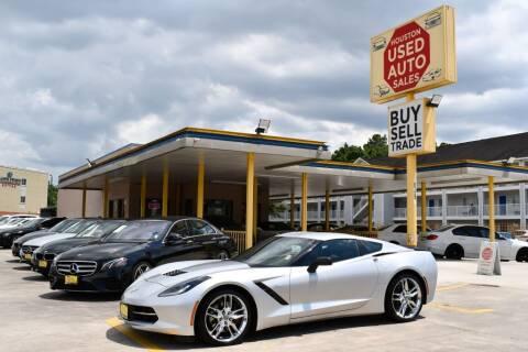 2016 Chevrolet Corvette for sale at Houston Used Auto Sales in Houston TX