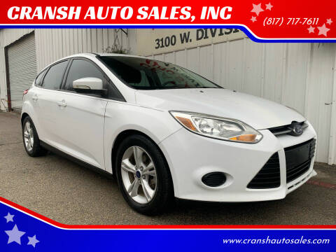 2014 Ford Focus for sale at CRANSH AUTO SALES, INC in Arlington TX