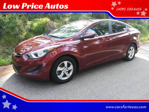 2015 Hyundai Elantra for sale at Low Price Autos in Beaumont TX
