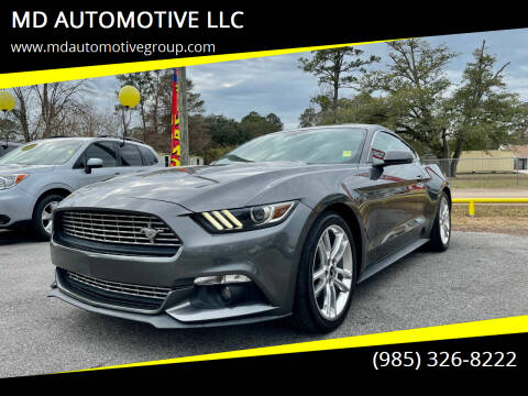 2016 Ford Mustang for sale at MD AUTOMOTIVE LLC in Slidell LA