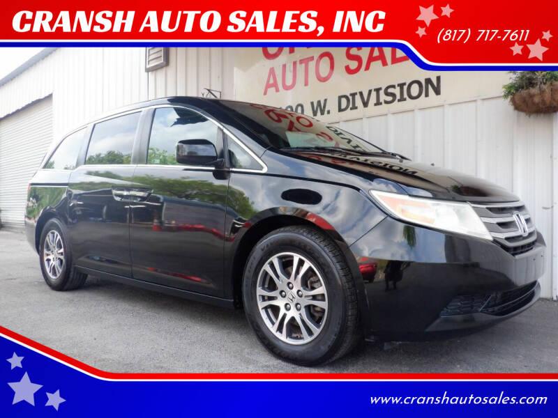 2011 Honda Odyssey for sale at CRANSH AUTO SALES, INC in Arlington TX