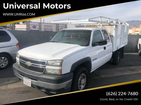 2006 Chevrolet Silverado 2500HD for sale at Universal Motors in Glendora CA