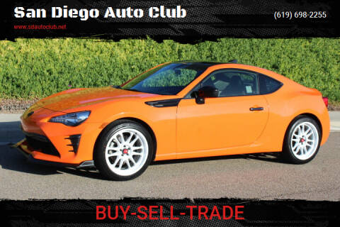 2017 Toyota 86 for sale at San Diego Auto Club in Spring Valley CA