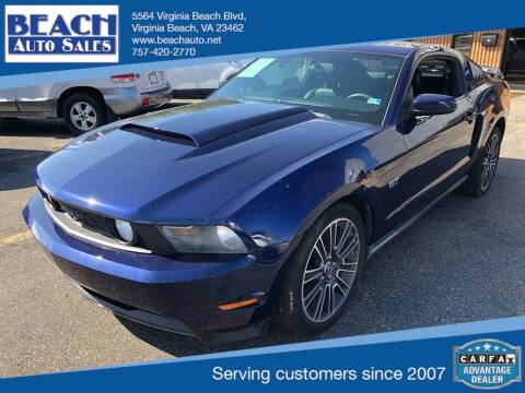 2010 Ford Mustang for sale at Beach Auto Sales in Virginia Beach VA